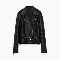 LEATHER EFFECT JACKET DETAILS