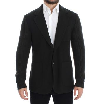 Dolce & Gabbana Green cashmere two button blazer