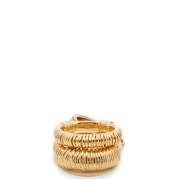 Alhambra set of two gold-plated rings | Aurélie Bidermann | MATCHESFASHION.COM US