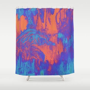 acidwash Shower Curtain by DuckyB