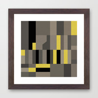White Rock Yellow Framed Art Print by Project M