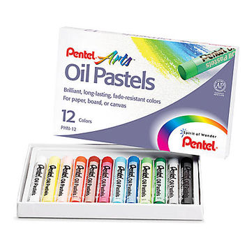 Pentel Arts® Oil Pastels, Assorted Colors, Pack Of 12 Item # 222851