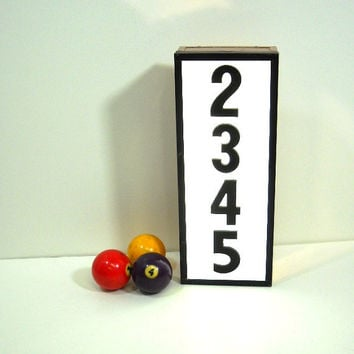 Lighted Sign Box Numbers 2345 Industrial Salvage Copper Tone Metal Sides Statement Piece