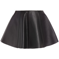 Dakota Seamed Leather Mini Skirt