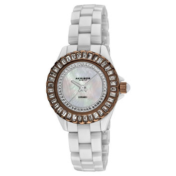 Akribos XXIV Ceramic Ladies Watch AK518BRW