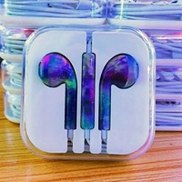 Generic Colourfull Handsfree Headset Earphone Headphone For Apple iPad Ipod iPhone 5 5S 6 6 Plus #34 Aurora