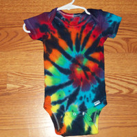 Tie dye Onesuit, all sizes, baby bodysuit, Rainbow Tiger, tie dye baby Onesuit