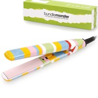 Bundle Monster Portable Mini Ceramic Flat Iron Travel Hair Straightener