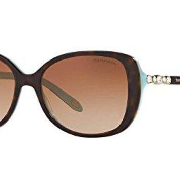 Tiffany & Co. Women TF4121B 55 Blue/Brown Sunglasses 55mm