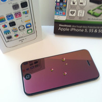 iPhone 5/5c/5s Ruby Red GlassShield Luxury Screen Protection