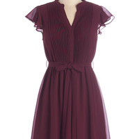 ModCloth Scholastic Mid-length Cap Sleeves A-line Thesis, That, and the Other Thing Dress