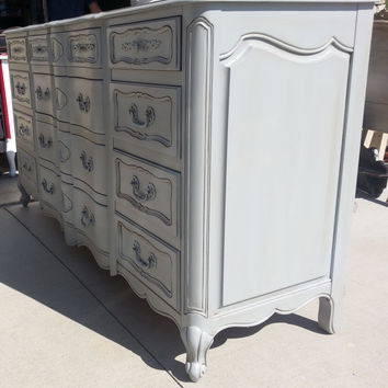 Dresser French Provincial Country French Vintage Shabby Chic Beach Cottage Buffet Changing Table Bathroom Vanity TV Console  Angelus  Co LA