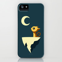 Moon Cat iPhone & iPod Case by Freeminds