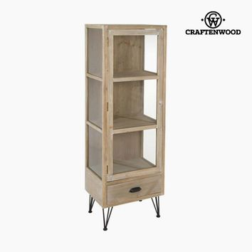 Display Cabinet With Glass Door Fir Mdf Natural (47 x 34 x 142 cm) - Thunder Collection by Craftenwood
