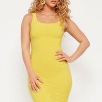 Scoop-Neck Seamless Bodycon Dress