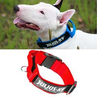 Free shipping high-quality Julius K9 nylon reflective pet dog collar red black blue color 3 size S M L