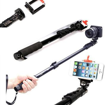 Top Quality  188 Portable Handheld Telescopic Monopod Tripod For Cameras Cell Phones With Holder Free Shipping