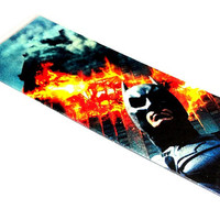 Batman Bruce Wayne Bookmark inspired by DC Comics OOAK Laminated father's day recycled upcycled repurposed reclaimed epateam joker