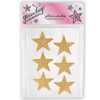 6 Large Glitter Make-Up Stars by GlitterBug