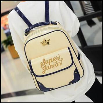 SJ Imperial Crown Canvas Backpack