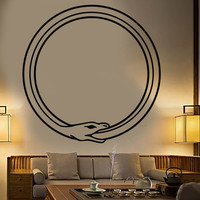 Vinyl Wall Decal Ouroboros Snake Symbol Infinity Circle Stickers Unique Gift (928ig)