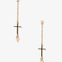 Dangling Spike Cross Earrings | FOREVER 21 - 1046795526