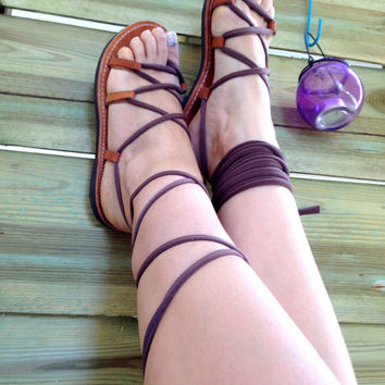 Gladiator Sandals - Chocolate Jersey