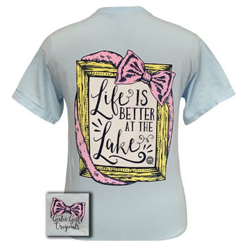 Girlie Girl Originals Life Is Better At The Lake Comfort Colors Chambray T Shirt