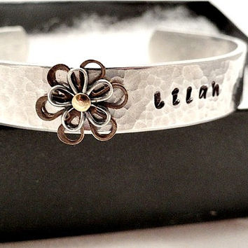 Hand Stamped Cuff Bracelet - Personalized Bracelet for Little Girls - Best Friends Gift