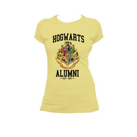 Hogwarts Crest Harry Potter American Apparel Ladies T Shirt