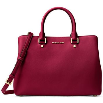 MICHAEL Michael Kors Savannah Large Satchel - Handbags & Accessories - Macy's
