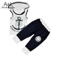 Summer Naval 2 PC Set T-Shirt Pants