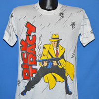 80s Dick Tracy Movie Bullet Holes All Over t-shirt Medium