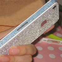 Silver Rhinestone Fashion Sticker For iPhone 4/4S/5