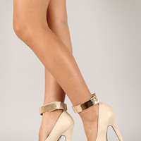 Liliana Lucile-2 Almond Toe Platform Pump