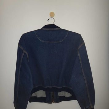 Vintage Junko Shimada Part 2 Fashion Show Denim Punk Style Bikers Jacket Japan Steam Punk