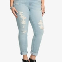 Torrid Skinny Jean - Light Wash with Destruction (Short)