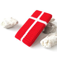 Danish Flag Samsung S8 plus case, cross LG G6 sock, Google Pixel XL cover, Honor 6X bag, Lenovo K6 note cozy, HTC U Ultra pouch, Nook cover