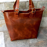Leather Women bag, women shoulder bag, brown leather, Ladies bag, top handle bag