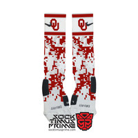 Custom Nike Elite Socks - Oklahoma Sooners Custom Nike Elites - Oklahoma University, Custom Elites, Oklahoma Socks, Sooners Socks