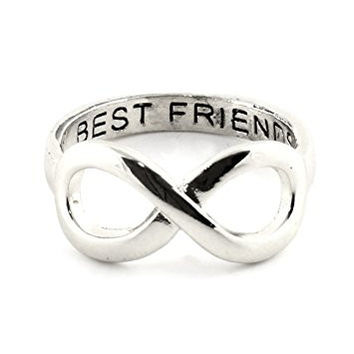 Best Friends Forever Ring Silver Tone RM11 Infinity Symbol BFF Statement Fashion Jewelry
