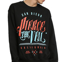 Pierce The Veil Blue & Red Logo Sweatshirt