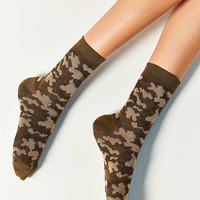 Out From Under Camo Crew Sock - Urban Outfitters