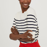 H&M Short-sleeved Striped Sweater $34.99