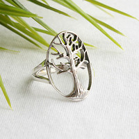 Oak Tree of life Silver Ring Sterling Ring .925 Silver Ring Personalized Ring