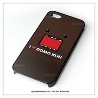I Love Domo Kun College iPhone 4 4S 5 5S 5C 6 6 Plus , iPod 4 5  , Samsung Galaxy S3 S4 S5 Note 3 Note 4 , and HTC One X M7 M8 Case
