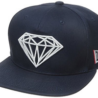Diamond Supply Co Men's Brilliant Snapback, Navy, One Size