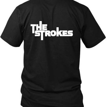 The Strokes Title Classic 2 Sided Black Mens T Shirt