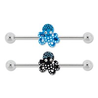 Decorated Octopus Industrial Barbell Package - Damaged Spoon Jewelry