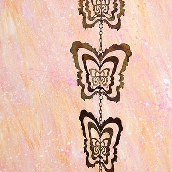 Cutout Butterfly Hanging Ornament 5pc - New item!